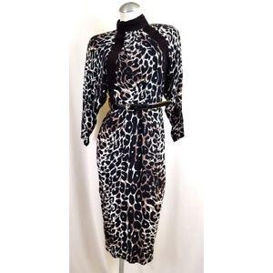 Vintage Barbara Barbara Size 4 Animal Print Dress